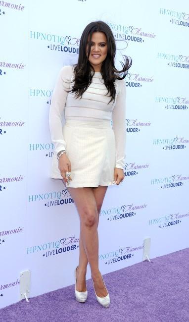 Khloe Kardashian lors du lancement du nouveau cocktail HPNOTIQ Harmonie à Beverly Hills, le 2 août 2012.