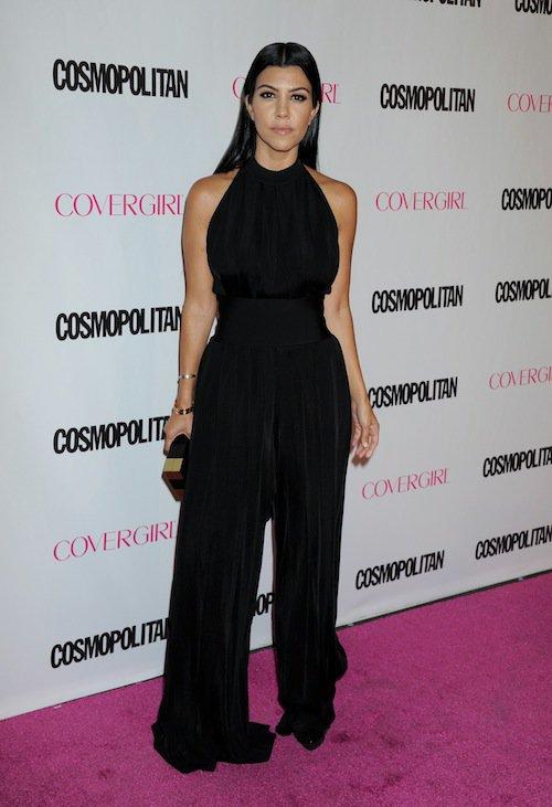 Kourtney Kardashian à la soirée des 50 ans de Cosmopolitan, le 12 octobre 2015