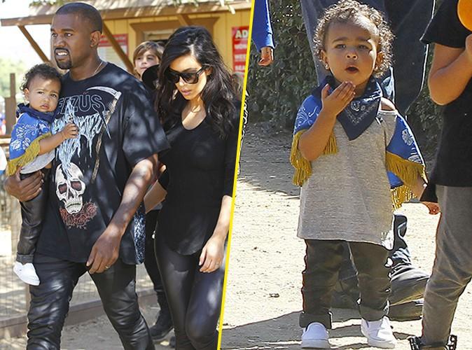 Kim et Kanye West : parents d�vou�s, � la qu�te de la citrouille parfaite avec la craquante North !