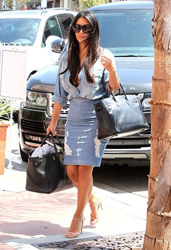 Kim Kardashian à La Jolla le 22 août 2014