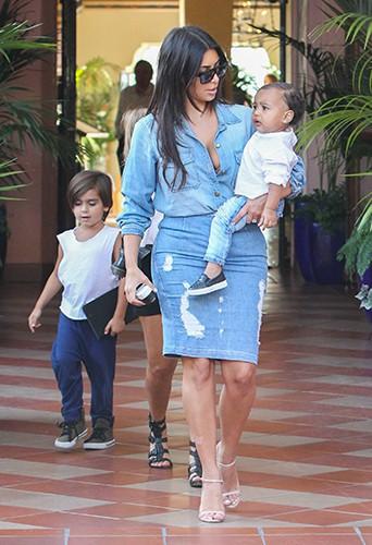 La famille Kardashian à La Jolla le 22 août 2014