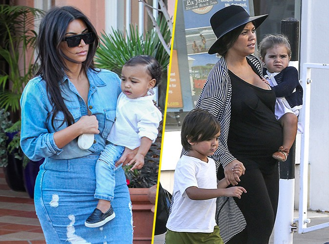 Photos : Kim et Kourtney Kardashian : accompagnées de leur tribu pour partager un tendre moment en famille !