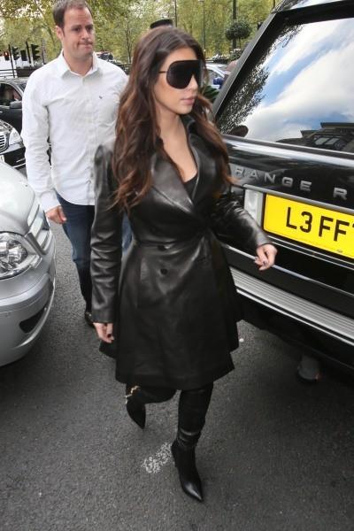 Kim Kardashian à Londres, le 7 novembre 2012.