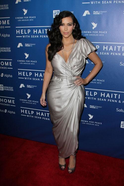 Kim Kardashian à la soirée Haïti de Sean Penn samedi