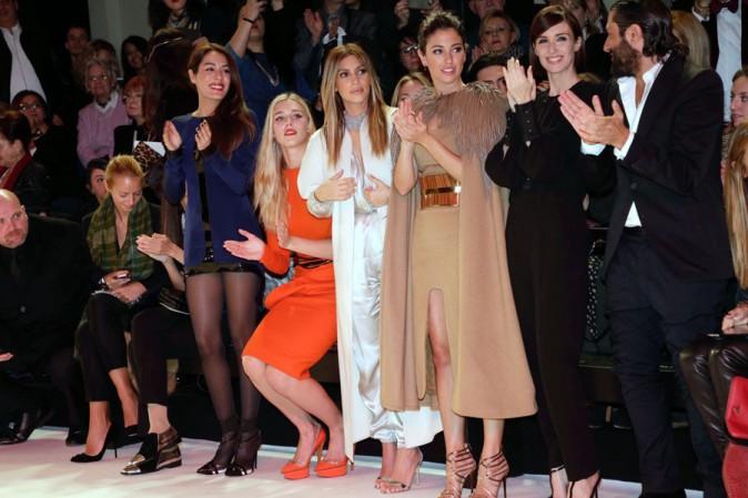 Kim Kardashian au défilé Stéphane Rolland organisé au Théâtre National de Chaillot, à Paris, le 21 janvier 2014