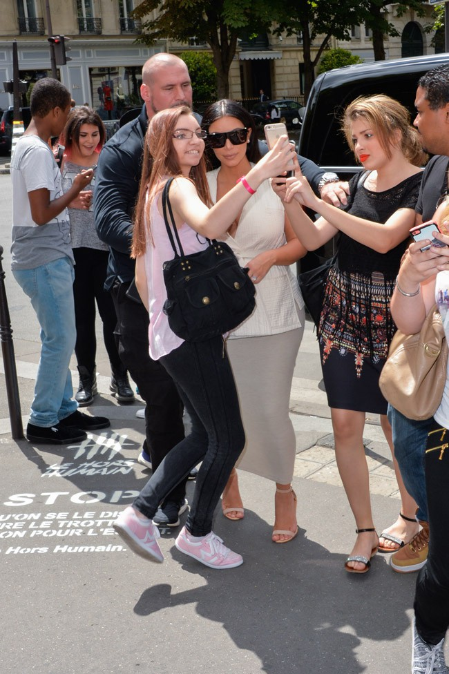 Kim Kardashian à Paris le 21 juillet 2015