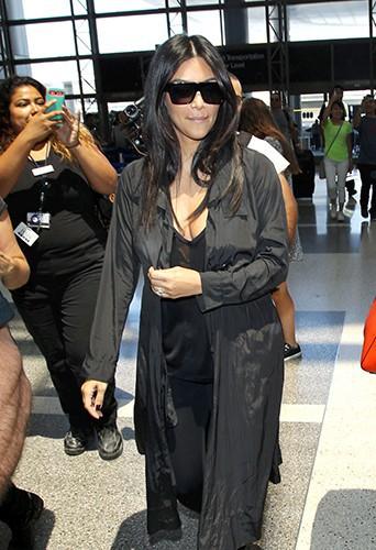 Kim Kardashian à l'aéroport de Los Angeles le 31 juillet 2014