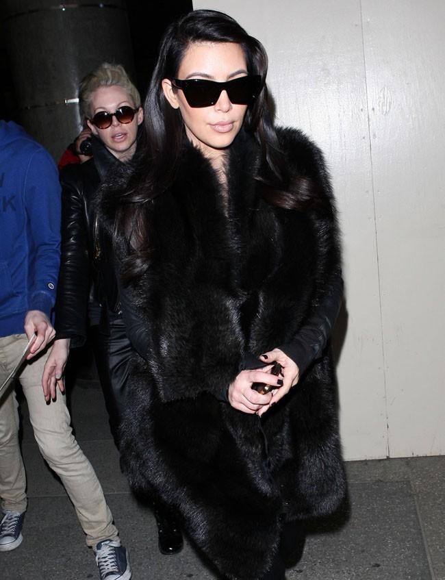 Kim Kardashian le 28 janvier 2013 à Los Angeles