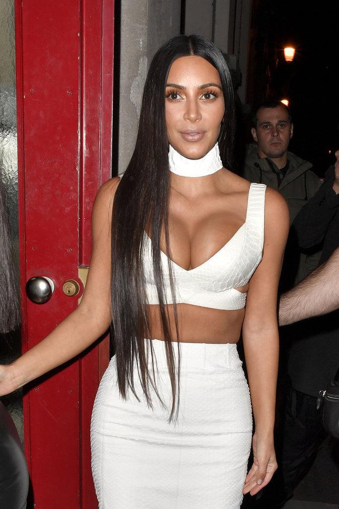 Kim Kardashian durant la Fashion Week de Paris