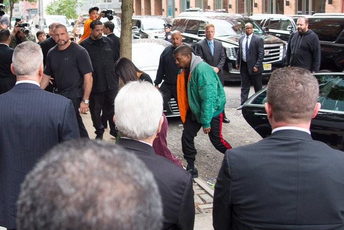 Kim Kardashian et Kanye West à New York