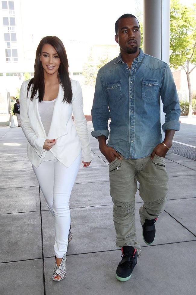 Kim Kardashian et Kanye West le 29 juin 2012 à Los Angeles