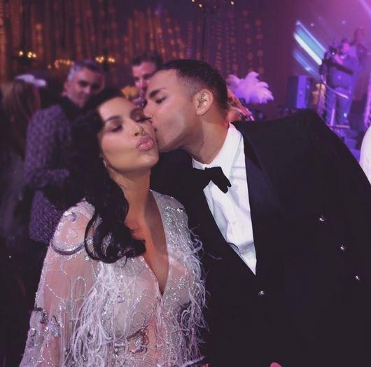 Kim Kardashian et Olivier Rousteing