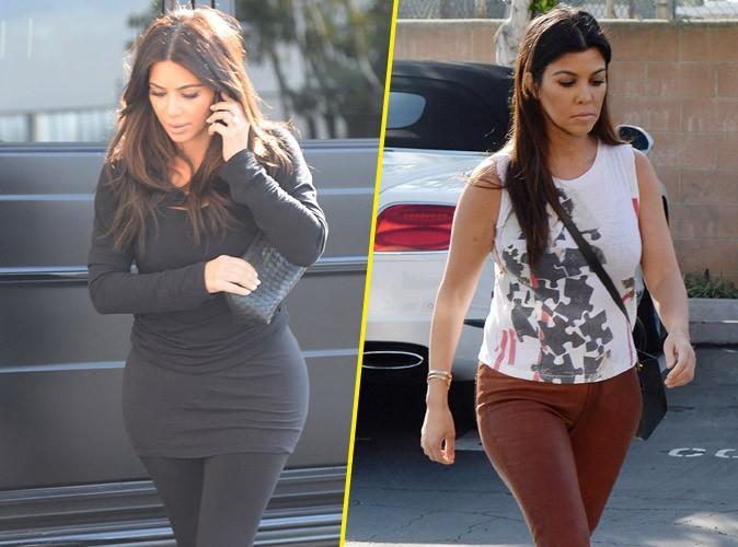"""Kim Kardashian : bien sobre mais bien moulée pour retrouver sa """"Bad"""" soeur Kourtney !"""