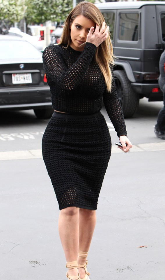 Kim Kardashian à Beverly Hills le 24 janvier 2014