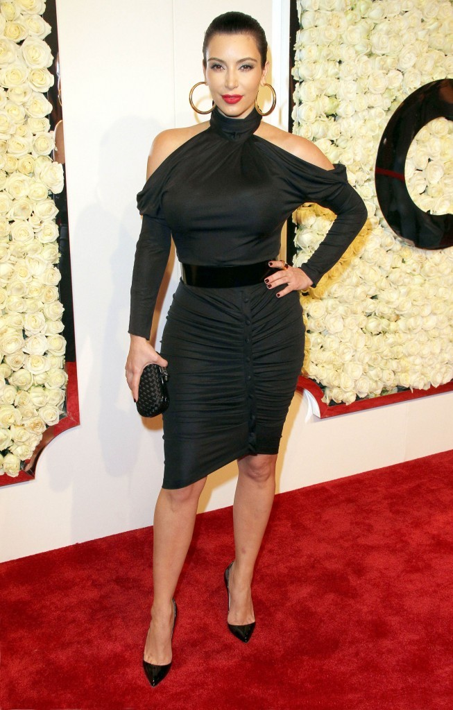 Kim Kardashian lors de la soirée QVC Red Carpet Style Event à Los Angeles, le 23 février 2012.