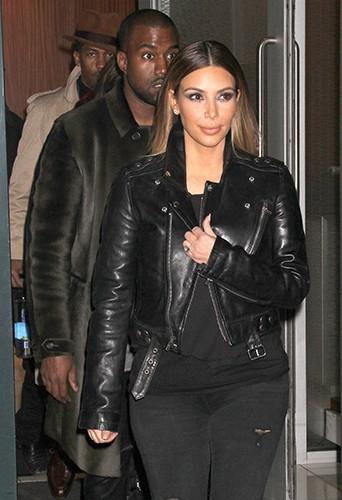 Kanye West et Kim Kardashian à New-York le 24 novembre 2013