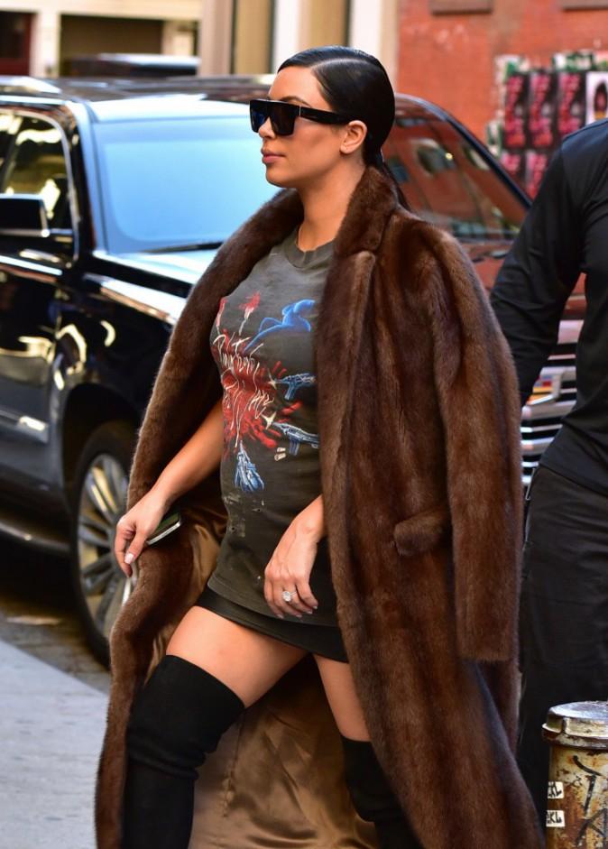Kim Kardashian à New York le 15 septembre 2015