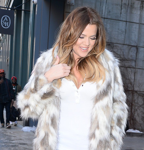 Khloe Kardashian à New York, le 17 février 2014.