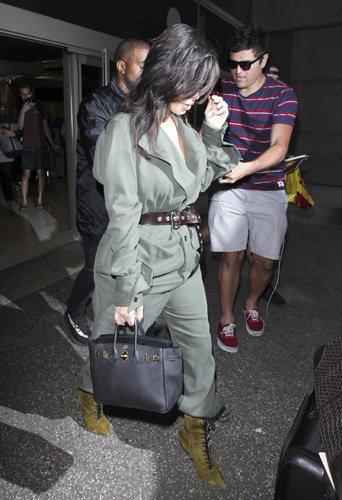 Kim Kardashian à l'aéroport de Los Angeles