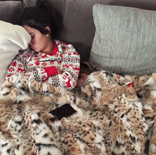 Noël 2014 : Kendall Jenner et sa nièce Penelope