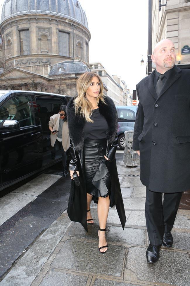 Kim Kardashian à Paris le 20 janvier 2014