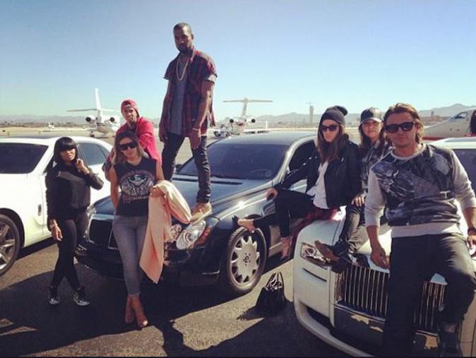 Kim Kardashian et toute sa clique à leur arrivée à Las Vegas