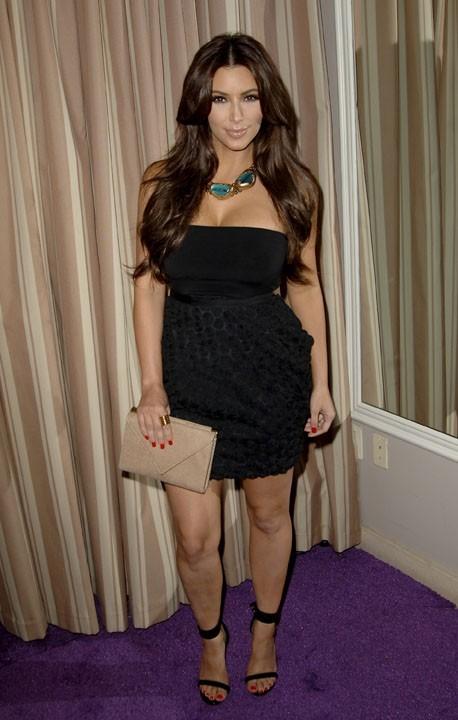 Kim Kardashian lors du lancement de la nouvelle collection de la marque NOON BY NOOR à Hollywood, le 20 juillet 2011.