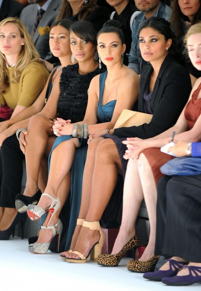 Kim Kardashian sur le front row du défilé Vera Wang à New York, le 13 septembre 2011.