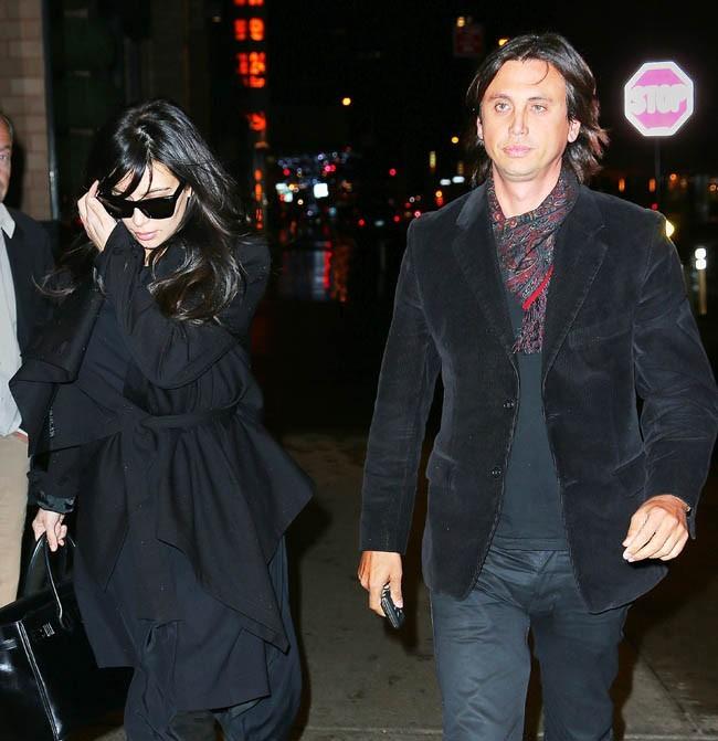 Kim Kardashian avec son meilleur ami Jonathan Cheban à New-York le 14 janvier 2013