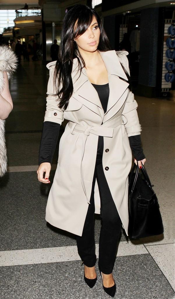 Kim Kardashian à l'aéroport de Los Angeles, le 17 janvier 2013.