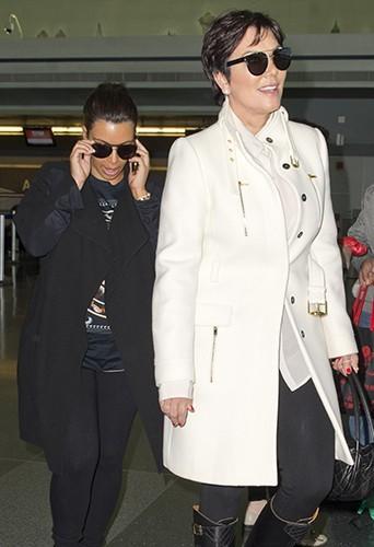 Kim Kardashian et Kris Jenner à New-York le 18 mai 2013