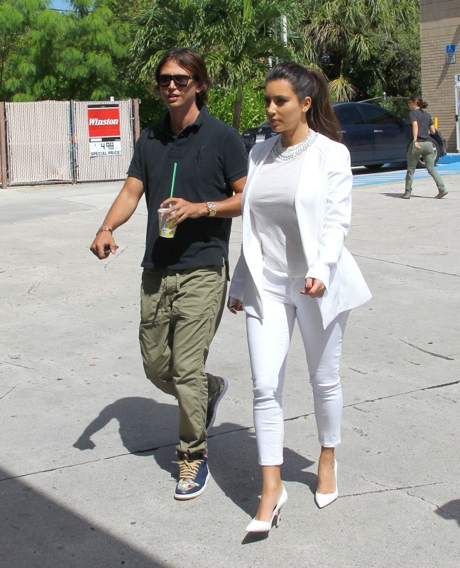 Kim Kardashianet Scott Disick le 15 octobre 2012 à Miami
