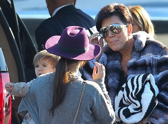 Kim Kardashian en famille à Los Angeles le 27 décembre 2013