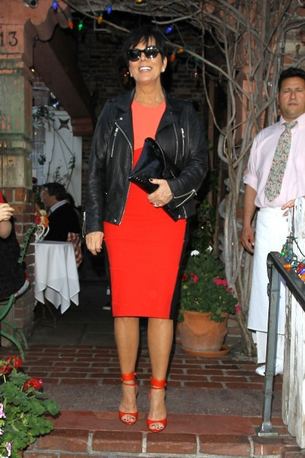 Kris Jenner quittant le restaurant The Ivy à Los Angeles, le 21 mars 2013.