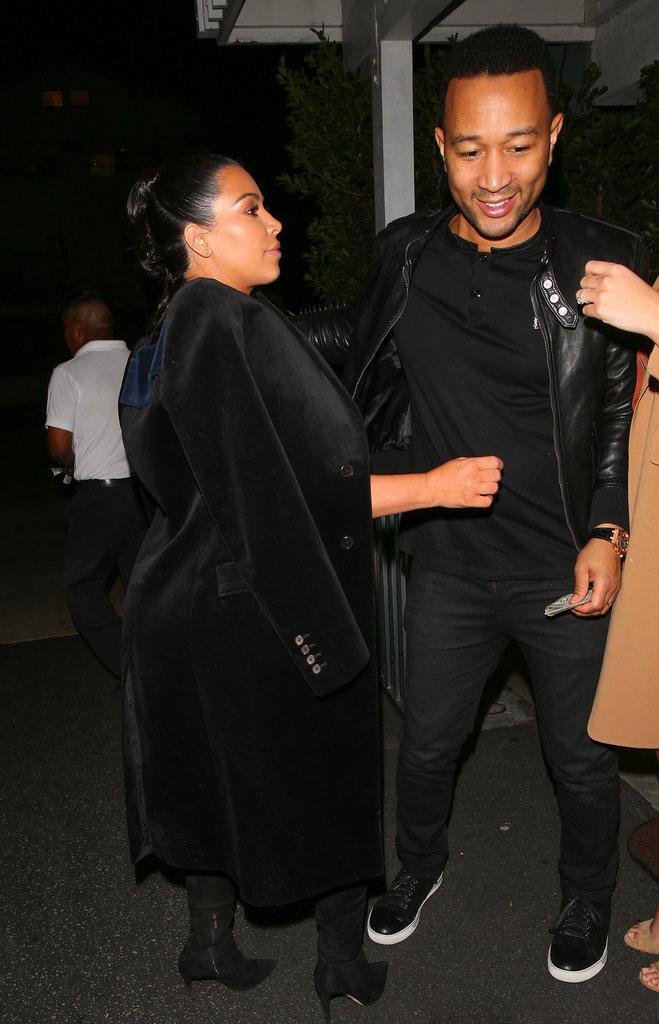 Kim Kardashian, Chrissy Teigen et John Legend