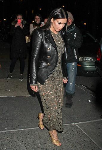 Kim Kardashian à New York le 25 mars 2014