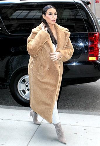 Kim Kardashian à New-York le 25 février 2014