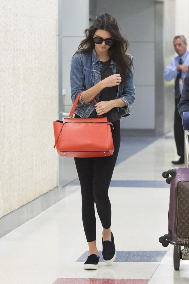 Kendall Jenner à l'aéroport JFK de New-York le 2 août 2014