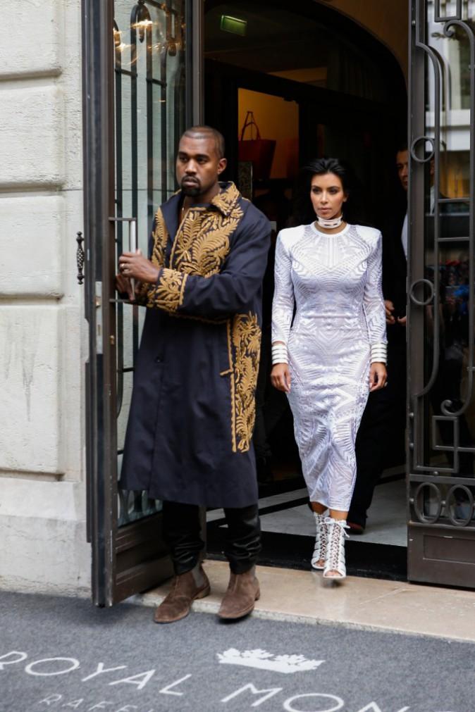 Kim Kardashian et Kanye West à Paris le 25 septembre 2014