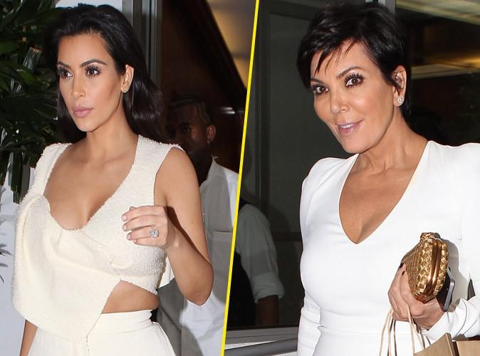 Kim Kardashian et Kanye West : dress code blanc pour un dîner à trois avec Kris Jenner !