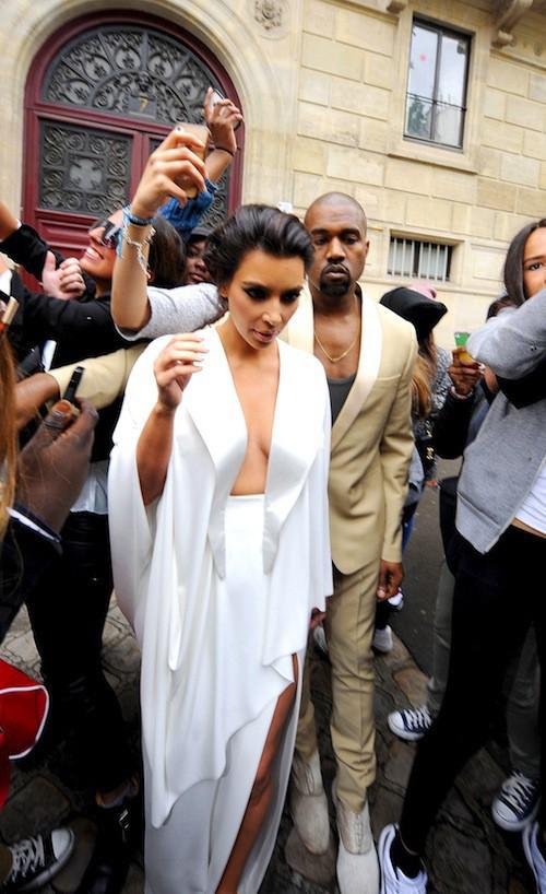 Photos : Kim Kardashian et Kanye West : en petite forme pour visiter Versailles !