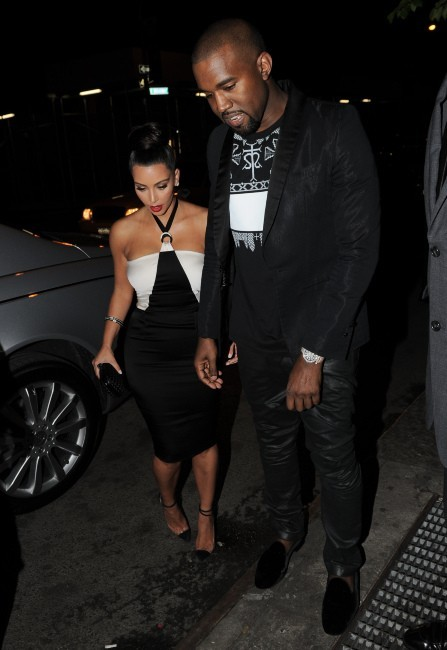 Kim Kardashian et Kanye West à New York, le 24 avril 2012.