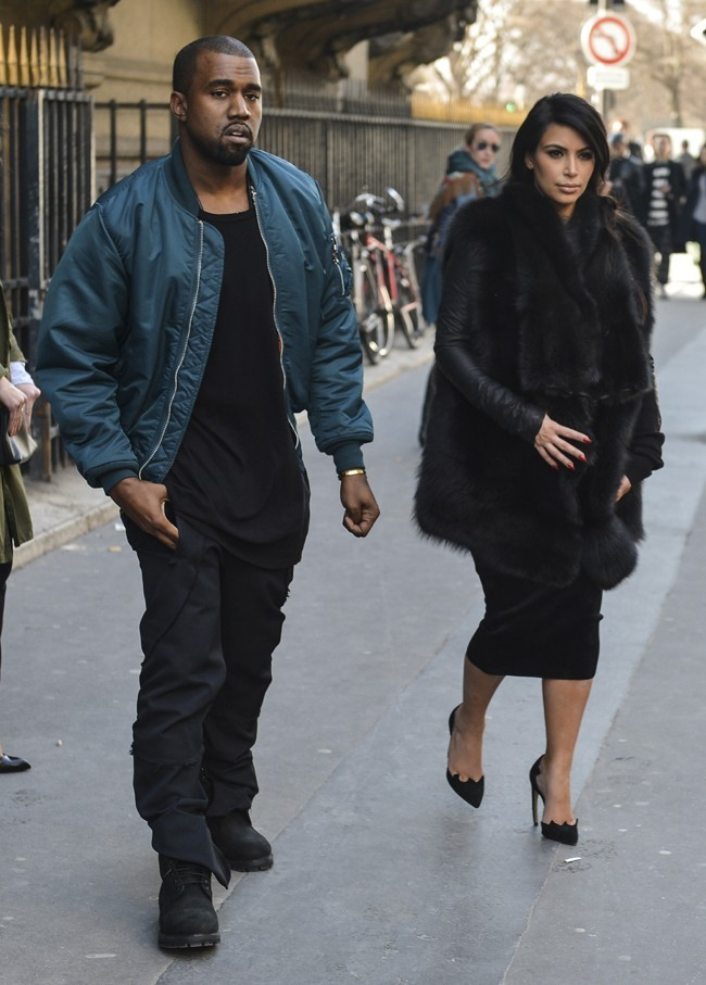 Kim Kardashian et Kanye West le 4 mars 2013 à Paris