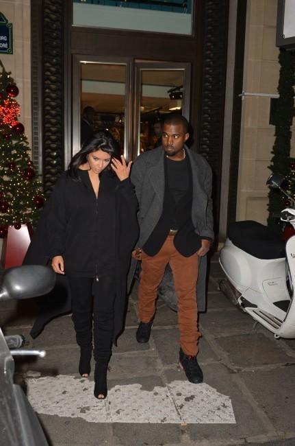 Kim Kardashian et Kanye West, Paris, 8 janvier 2013