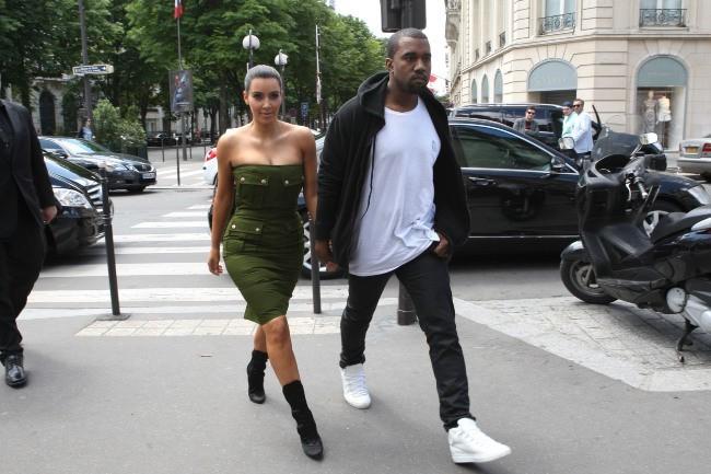 Kim Kardashian et Kanye West à Paris...