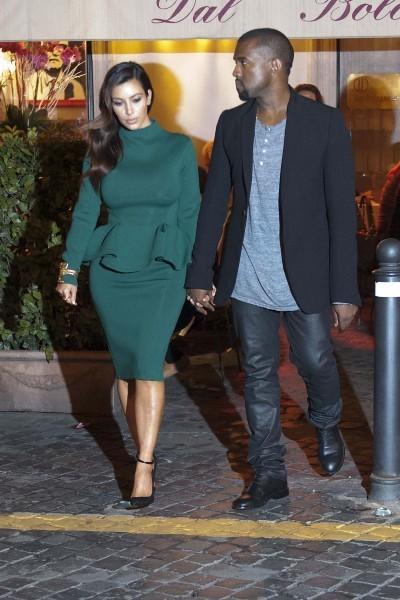 Kim Kardashian et Kanye West à Rome pour fêter les 32 ans de Kim !