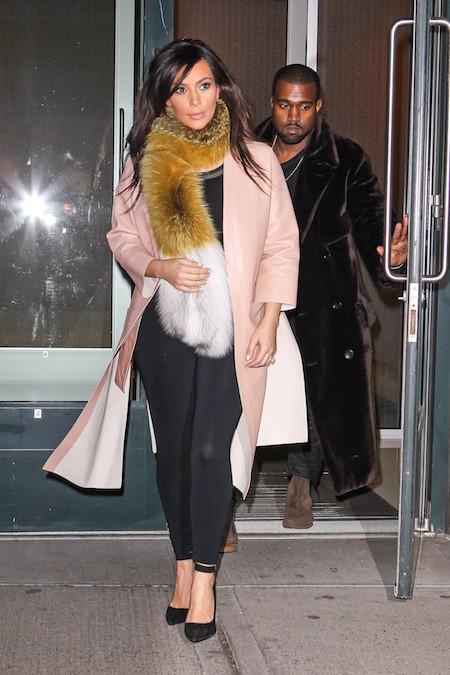 Kim Kardashian et Kanye West hier à New York