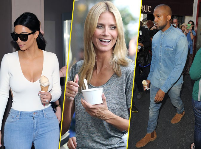 Photos : Kim Kardashian, Heidi Klum, Kanye West... Comme eux, succombez au Free Cone Day !