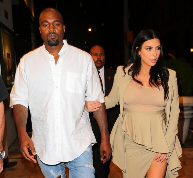 Kim Kardashian et Kanye West le 10 septembre 2015