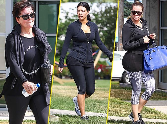 Photos : Kim Kardashian : la it girl aux 28 millions de dollars s'offre une séance de sport musclée en famille !